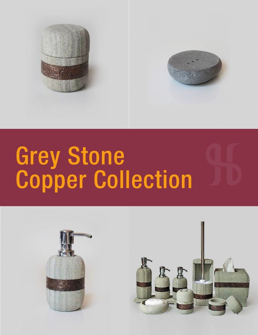 Grey Stone Copper Collection